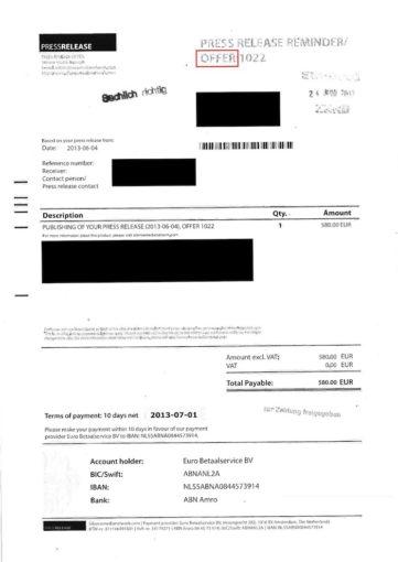 Achtung: Silence Media Network versendet vermeintliche Rechnungen