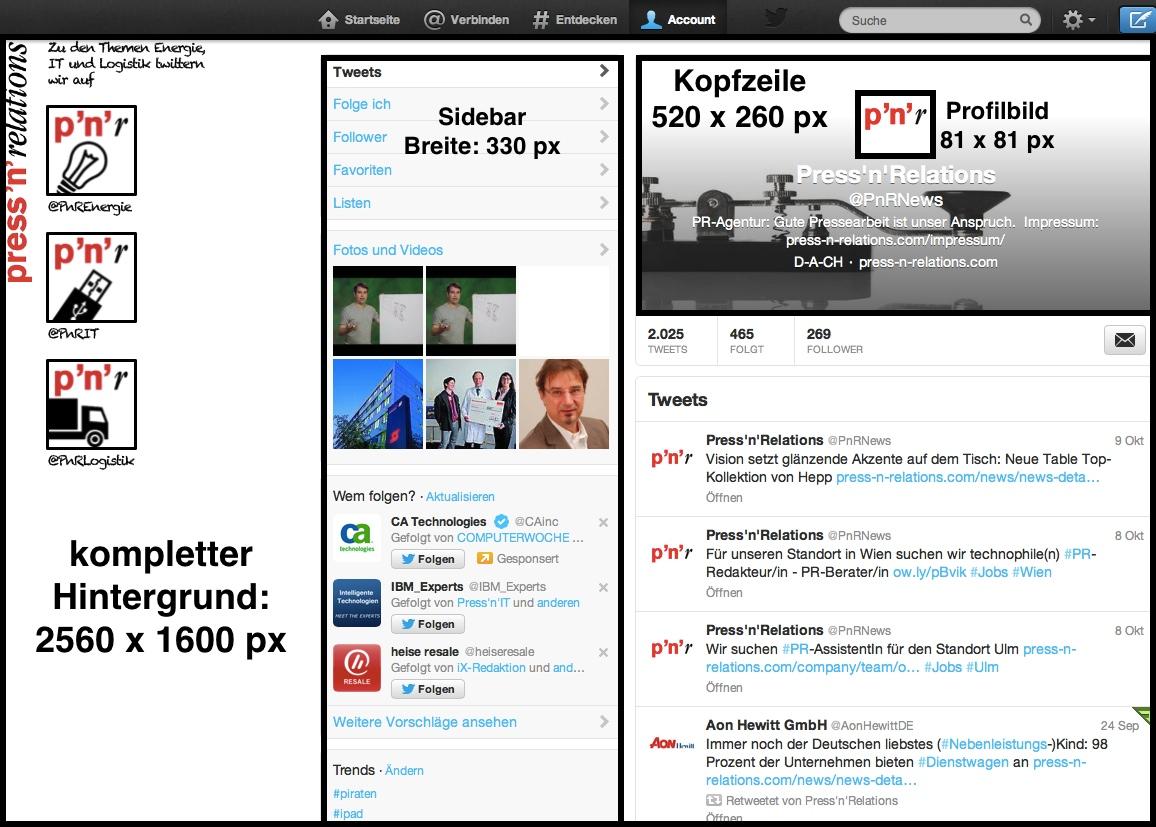 Altes Twitter-Design