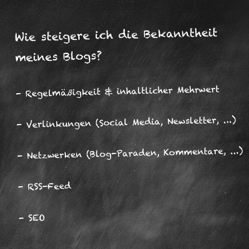 Wie steigere ich die Bekanntheit meines Blogs