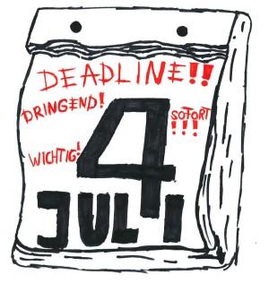 Von wegen große Langeweile – im Juli ist der Praktikant in Eile