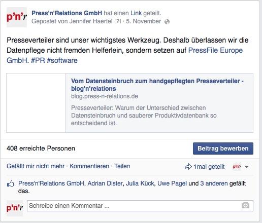Link-Vorschau Facebook