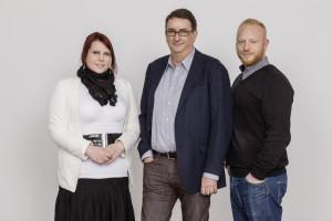 von links: Marta Wojtowicz - Leitung Support, Uwe Pagel - Geschäftsführung, Florian Fischer - Bertriebsleitung