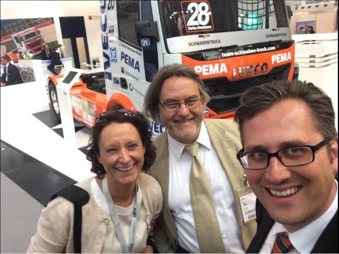 Désirée Müller, Uwe Taeger und Bruno Lukas auf der transport logistic 2015