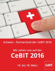 Partnerland 2016: Die Schweiz wird Partnerland der CeBIT 2016 vom 14. bis zum 18. März. (Quelle: www.deutsche-messe.de)