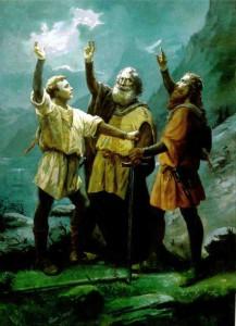 """""""Der Rütlischwur 1291"""" Gemälde von Jean Renggli dem Älteren (entstanden 1891)"""