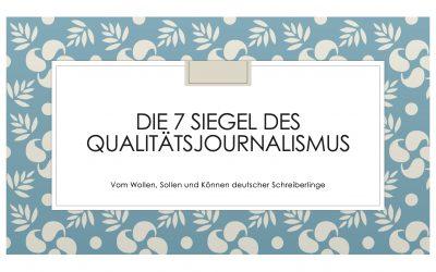 Qualitätsjournalismus: Ein Wort mit sieben Siegeln