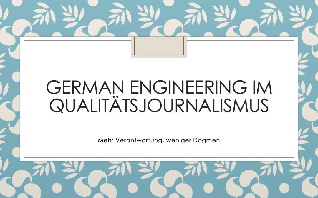 Qualitätsjournalismus: Made in Germany 2.0