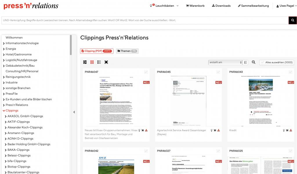 AMID PR: Mediathek und Clipping-Archiv