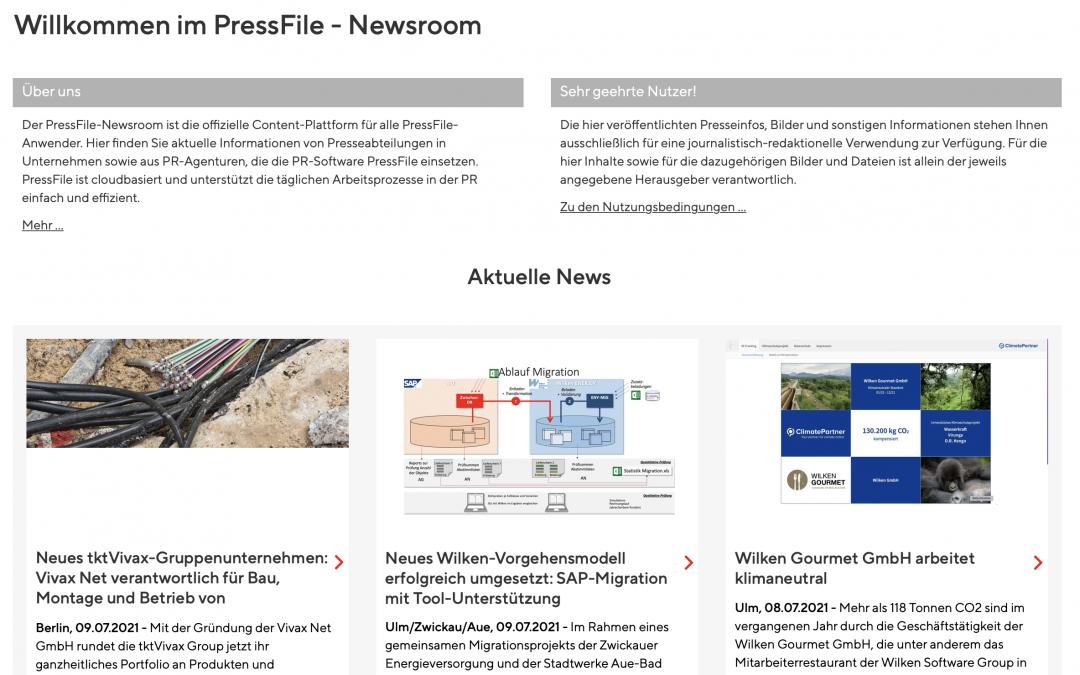 Der PressFile Newsroom