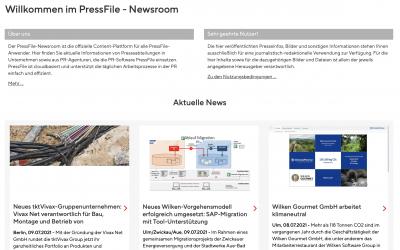 Der PressFile Newsroom: Das Ergebnis von 20 Jahren Digitalisierung bei Press'n'Relations